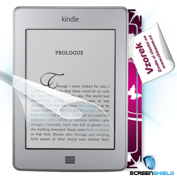 ScreenShield Amazon Kindle Touch - Film for display protection and voucher for decorative skin (including shipping fee t