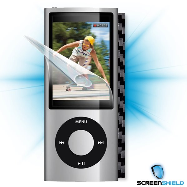 ScreenShield iPOD Nano 5. generace - Films on display and carbon skin (black)
