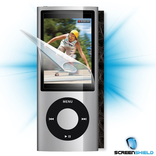 ScreenShield iPOD Nano 5. generace - Films on display and carbon skin (leather)