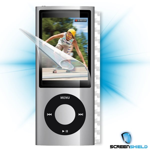 ScreenShield iPOD Nano 5. generace - Films on display and carbon skin (white)