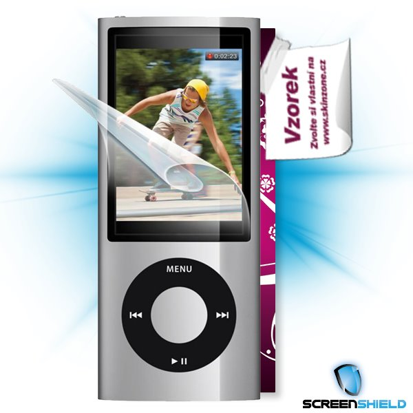 ScreenShield iPOD Nano 5. generace - Film for display protection and voucher for decorative skin (including shipping fee