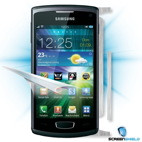 ScreenShield Samsung Wave III S8600 - Films on display and carbon skin (silver)