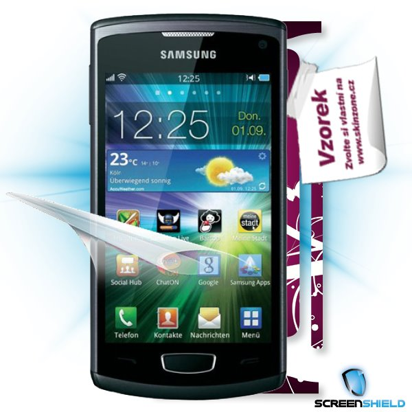 ScreenShield Samsung Wave III S8600 - Film for display protection and voucher for decorative skin (including shipping fe