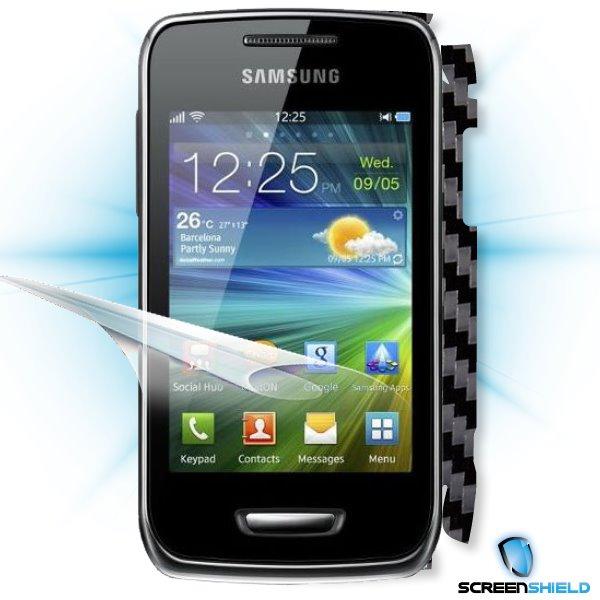 ScreenShield Samsung Wave Y S5380 - Films on display and carbon skin (black)