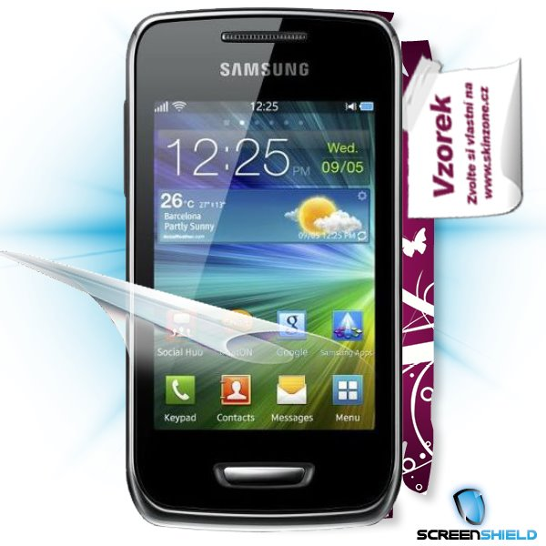 ScreenShield Samsung Wave Y S5380 - Film for display protection and voucher for decorative skin (including shipping fee
