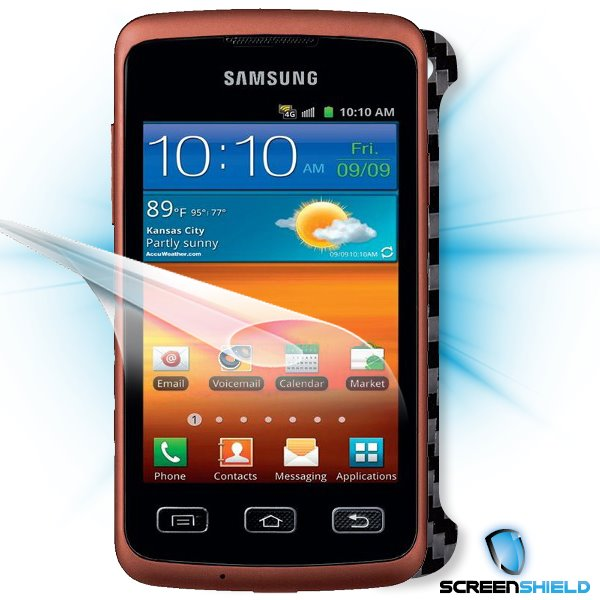 ScreenShield Samsung Galaxy XCover S5690 - Films on display and carbon skin (black)