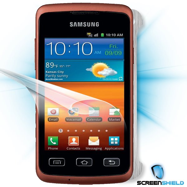 ScreenShield Samsung Galaxy XCover S5690 - Films on display and carbon skin (silver)