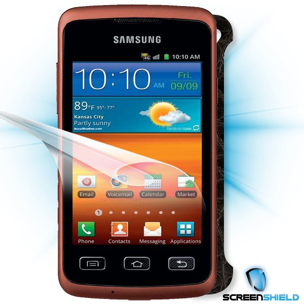 ScreenShield Samsung Galaxy XCover S5690 - Films on display and carbon skin (leather)
