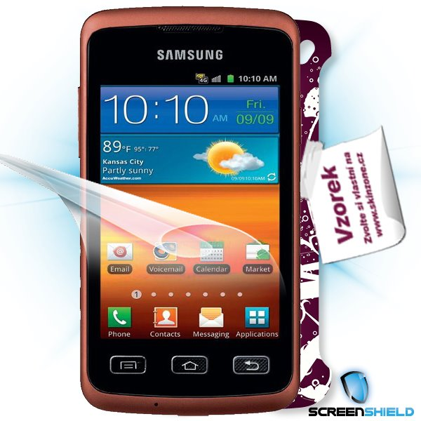 ScreenShield Samsung Galaxy XCover S5690 - Film for display protection and voucher for decorative skin (including shippi