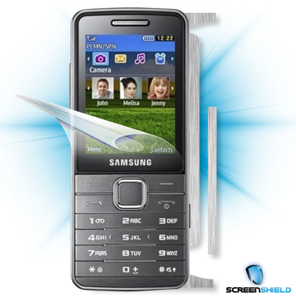 ScreenShield Samsung S5610 - Films on display and carbon skin (silver)