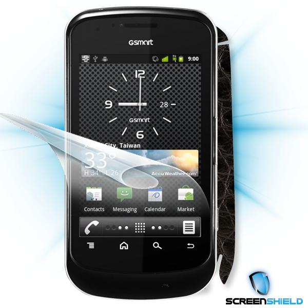 ScreenShield GigaByte GSmart G1345 - Films on display and carbon skin (leather)