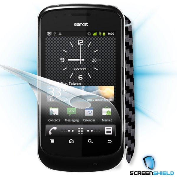 ScreenShield GigaByte GSmart G1345 - Films on display and carbon skin (black)