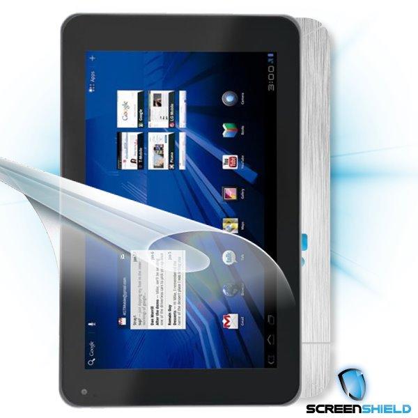 ScreenShield LG Optimus Pad - Films on display and carbon skin (silver)