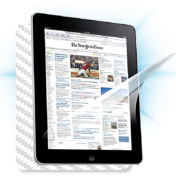 ScreenShield Apple iPAD 3 - Films on display and carbon skin (white)