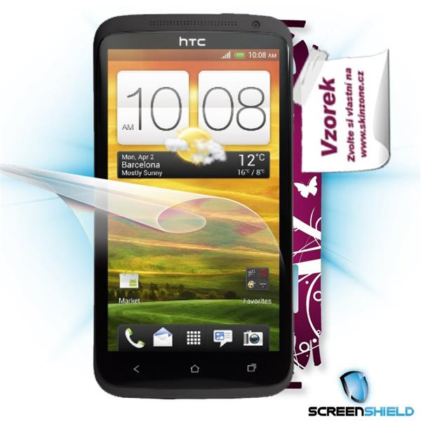 ScreenShield HTC One X - Film for display protection and voucher for decorative skin (including shipping fee to end cust
