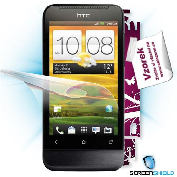 ScreenShield HTC One V - Film for display protection and voucher for decorative skin (including shipping fee to end cust