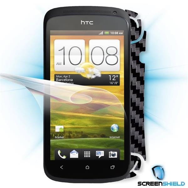 ScreenShield HTC One S - Films on display and carbon skin (black)