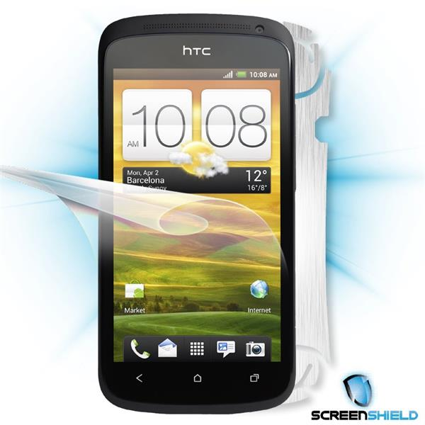 ScreenShield HTC One S - Films on display and carbon skin (silver)