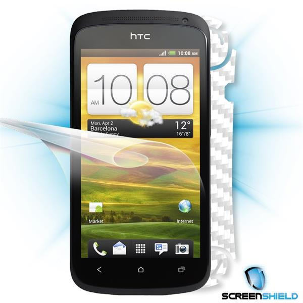 ScreenShield HTC One S - Films on display and carbon skin (white)
