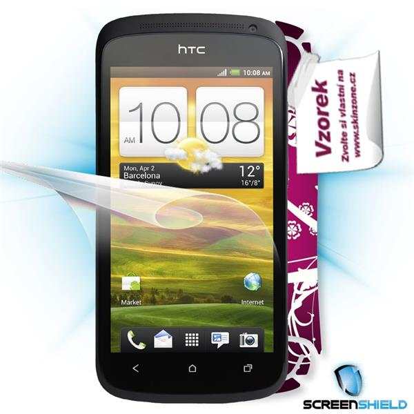 ScreenShield HTC One S - Film for display protection and voucher for decorative skin (including shipping fee to end cust