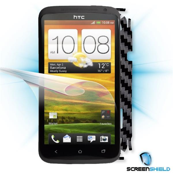ScreenShield HTC One X - Films on display and carbon skin (black)