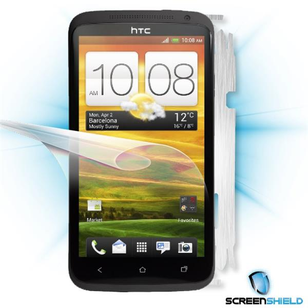 ScreenShield HTC One X - Films on display and carbon skin (silver)