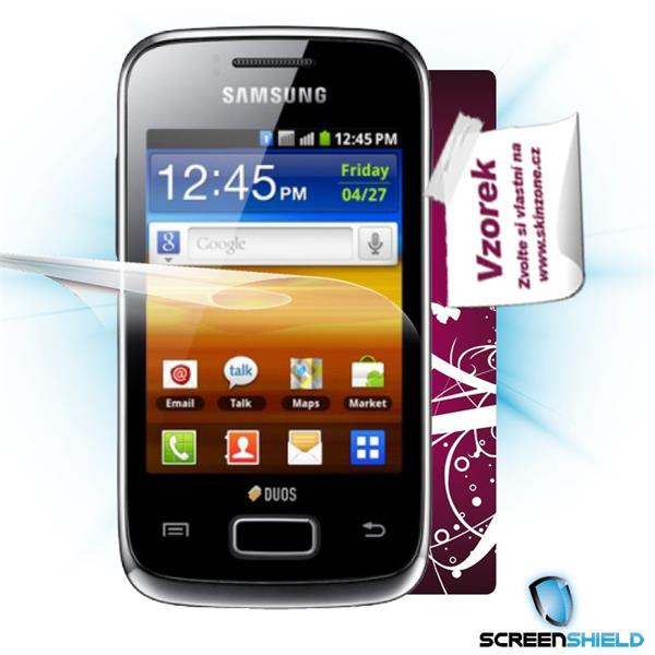 ScreenShield Samsung Galaxy Y S6102 - Film for display protection and voucher for decorative skin (including shipping fe