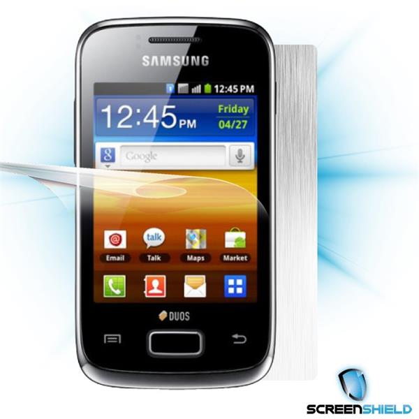 ScreenShield Samsung Galaxy Y S6102 - Films on display and carbon skin (silver)