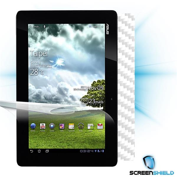 ScreenShield Asus Transformer Prime TF201 - Films on display and carbon skin (white)