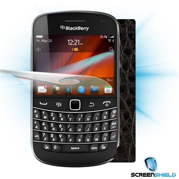 ScreenShield Blackberry Bold 9900 - Films on display and carbon skin (leather)