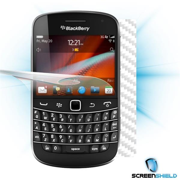 ScreenShield Blackberry Bold 9900 - Films on display and carbon skin (white)