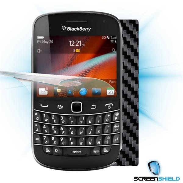 ScreenShield Blackberry Bold 9900 - Films on display and carbon skin (black)