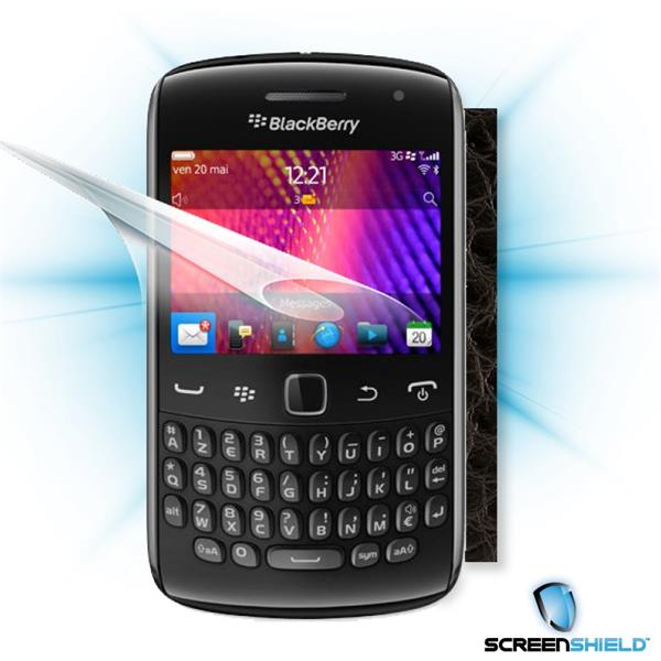 ScreenShield Blackberry Curve 9360 - Films on display and carbon skin (leather)