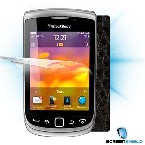 ScreenShield Blackberry Torch 9810 - Films on display and carbon skin (leather)