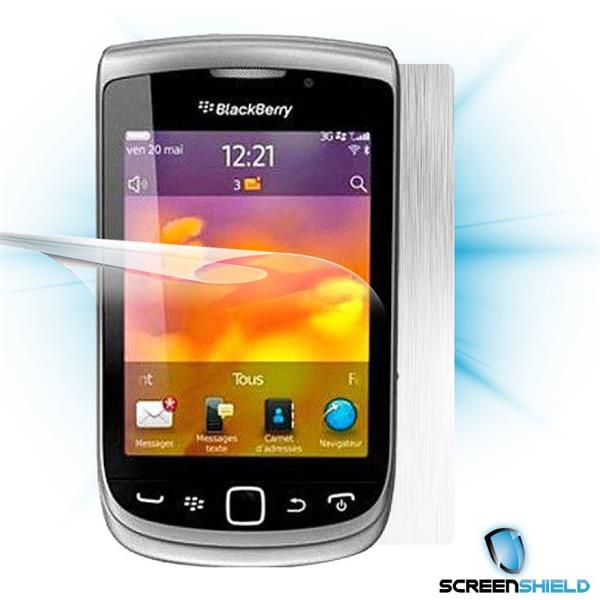 ScreenShield Blackberry Torch 9810 - Films on display and carbon skin (silver)