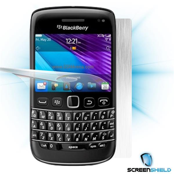 ScreenShield Blackberry Bold 9790 - Films on display and carbon skin (silver)
