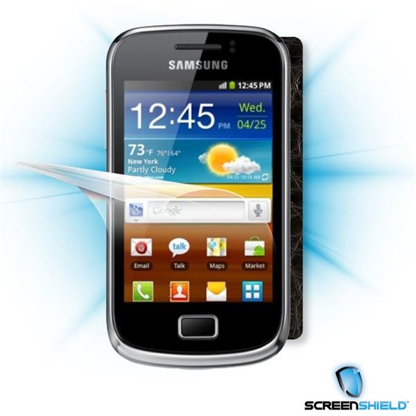 ScreenShield Samsung Galaxy mini 2 S6500 - Films on display and carbon skin (leather)