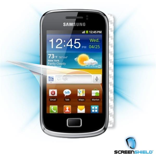 ScreenShield Samsung Galaxy mini 2 S6500 - Films on display and carbon skin (white)