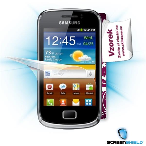 ScreenShield Samsung Galaxy mini 2 S6500 - Film for display protection and voucher for decorative skin (including shippi