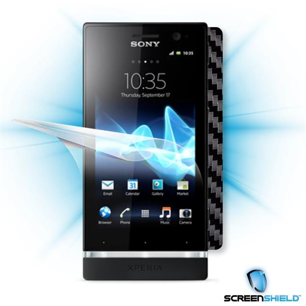ScreenShield Sony Xperia P - Films on display and carbon skin (black)