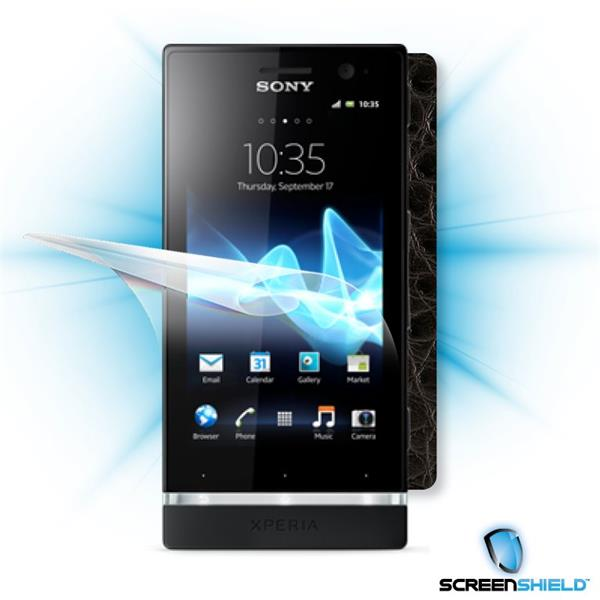 ScreenShield Sony Xperia P - Films on display and carbon skin (leather)