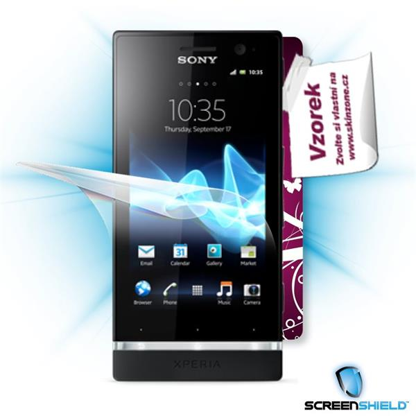ScreenShield Sony Xperia P - Film for display protection and voucher for decorative skin (including shipping fee to end