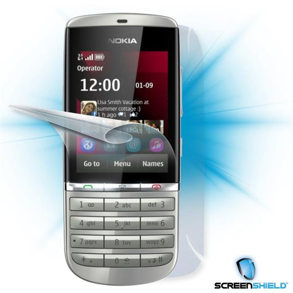 ScreenShield Nokia Asha 300 - Film for display + body protection
