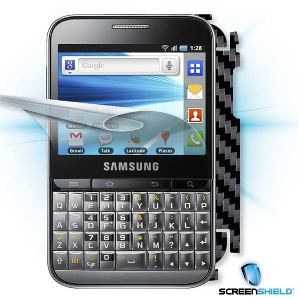 ScreenShield Samsung Galaxy Pro B7510 - Films on display and carbon skin (black)