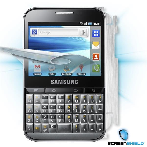 ScreenShield Samsung Galaxy Pro B7510 - Films on display and carbon skin (silver)