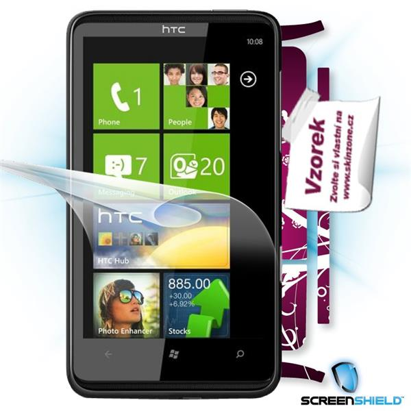 ScreenShield HTC HD7 - Film for display protection and voucher for decorative skin (including shipping fee to end custom