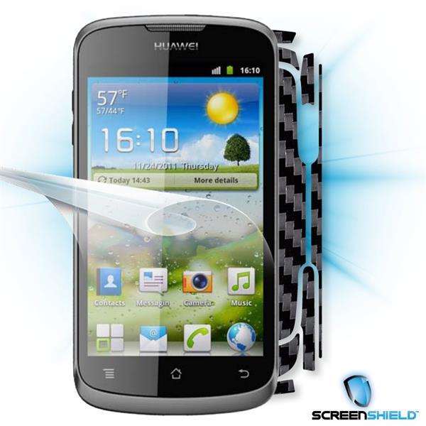 ScreenShield Huawei Ascend G300 U8815 - Films on display and carbon skin (black)