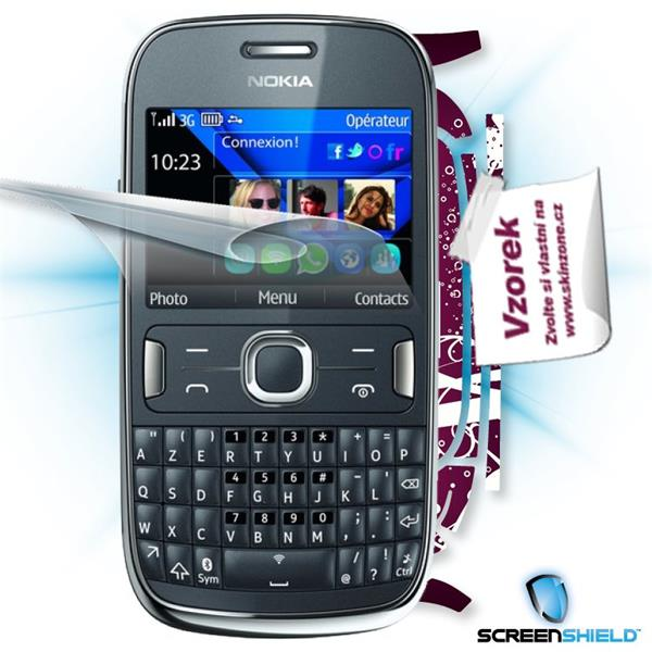ScreenShield Nokia Asha 302 - Film for display protection and voucher for decorative skin (including shipping fee to end