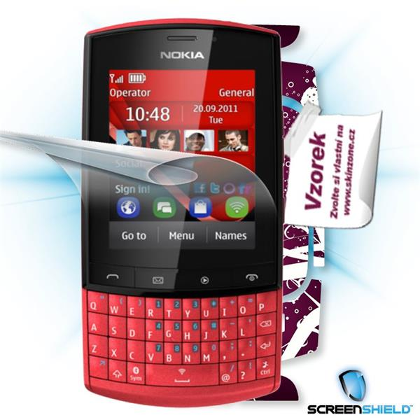 ScreenShield Nokia Asha 303 - Film for display protection and voucher for decorative skin (including shipping fee to end