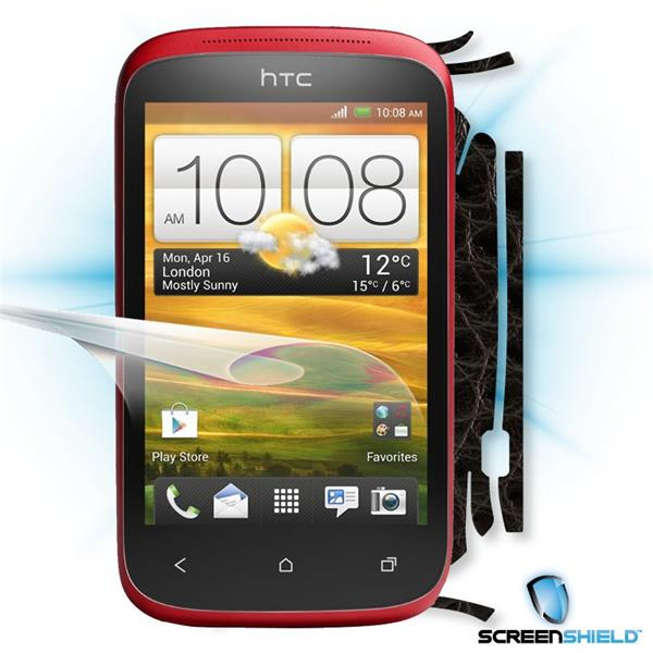 ScreenShield HTC Desire C - Films on display and carbon skin (leather)